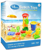 Click N Play 18 Piece Beach sand Toy Set Bucket Shovels Rakes Sand Wheel Wate... - Chickadee Solutions - 1