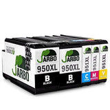 JARBO 1Set+1Black Replacement for HP 950XL 951XL Ink Cartridge High Capacity ... - Chickadee Solutions - 1