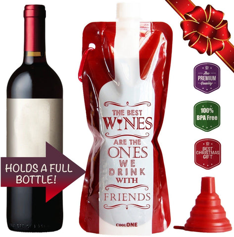 Take a Wine - Unique gift Ideas! Flexible Unbreakable Wine Bottle Durable Tra... - Chickadee Solutions - 1