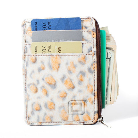 RFID Blocking Secure Mini Wallet - Leopard - Chickadee Solutions - 1