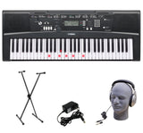 Yamaha EZ-220 61-Lighted Key Portable Keyboard Package with Headphones Stand ... - Chickadee Solutions - 1