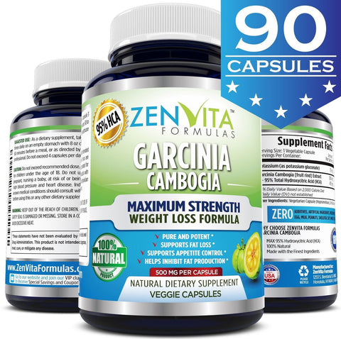 95% HCA 100% Pure Garcinia Cambogia Extract - 90 Capsules Highest Potency Ext... - Chickadee Solutions - 1