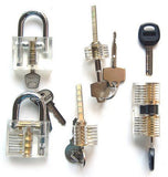 Looching Crystal Padlocks Padlock Sets Professional Cutaway Practice Padlocks 1 - Chickadee Solutions - 1