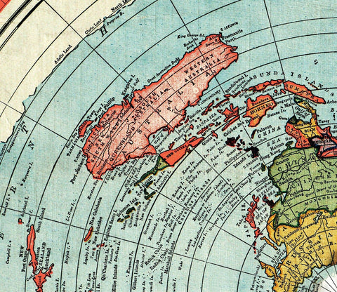Flat Earth Map Gleason S New Standard Map Of The World Large