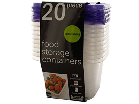 handy helpers Square Food Storage Containers Set OD757~4 731015206667 - Chickadee Solutions