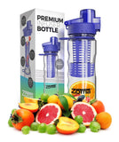 25oz Fruit Infuser Water Bottle - Leak Free Locking Cap - BPA Free Tritan Pla... - Chickadee Solutions - 1