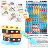 Pokemon Party Favors for 12 - Pokemon Kids Wristbands (12) Pokemon Pencils (1... - Chickadee Solutions - 1