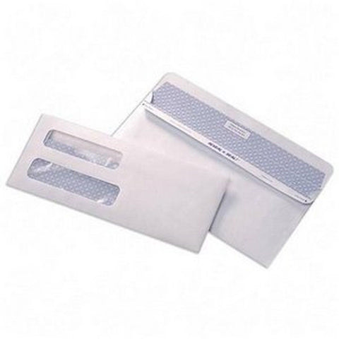 #10 Double Window Envelopes-Self Seal Security Tinted Envelopes-Invoice Envel... - Chickadee Solutions