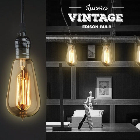 Lucero Vintage Thomas Edison Incandescent Light Bulb 60W ...