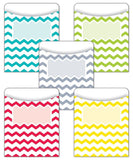 Creative Teaching Press Chevron Solids Library Pockets (6923) 3.25x4.5 inches - Chickadee Solutions