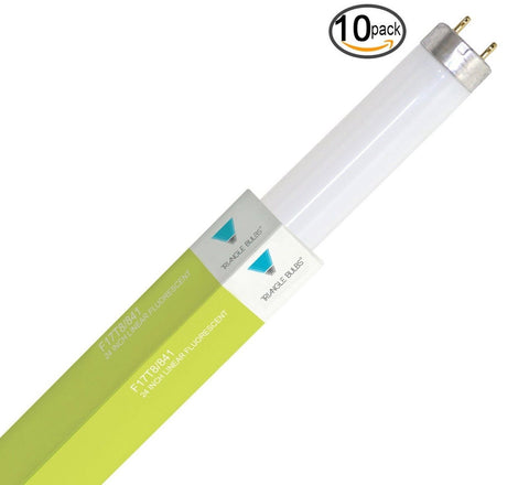 "(Pack of 10) F17T8/741 24"" 17-Watt Straight T8 Fluorescent Tube Cool White Li... - Chickadee Solutions - 1"