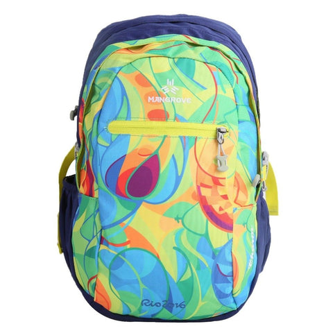 MANGROVE Charm Waterproof School Backpack 20L Blue Rio Print - Chickadee Solutions - 1