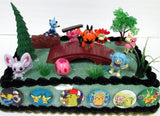 Pokemon 18 Piece Birthday Cake Topper Set Featuring 8 RANDOM Pokemon Characte... - Chickadee Solutions - 1