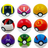 9 Pieces Plastic Super Anime Figures Balls for Pokemon Kids Toys Balls - Chickadee Solutions - 1