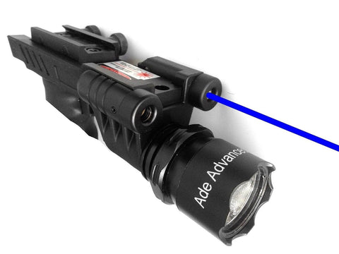 Ade Advanced Optics 650 lm Dual Strobe Flashlight with Blue Laser Combo Sight - Chickadee Solutions - 1