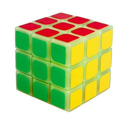 Glow in the Dark Speed Cube 3x3 Magic Cube Puzzle 57 mm - Chickadee Solutions - 1