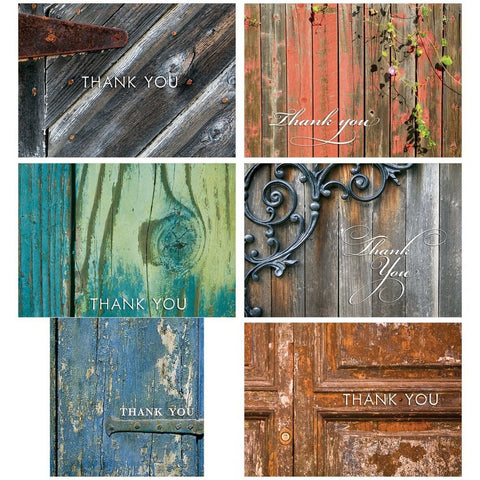 60 Postcards for $9.95 - Rustic Thank You - 6 Different Images - Chickadee Solutions - 1