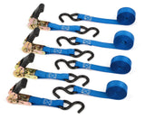 Premium Ratchet Tie Downs - 4 Pk - 15 Ft - 500 Lbs Load Cap - 1500 Lb Break S... - Chickadee Solutions - 1