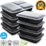 Mixed Meal Prep Containers Set - Bento Lunch Boxes / Restaurant Food Storage ... - Chickadee Solutions - 1