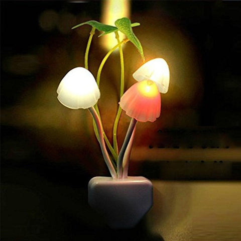 1 X CrazyDeal New Colours Romantic LED Mushroom Dream Night Light Bed Lamp ge... - Chickadee Solutions - 1