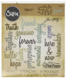 Sizzix Thinlits Die Set Friendship Words: Script by Tim Holtz (16 Pack) - Chickadee Solutions - 1