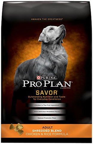 Purina Pro Plan Savor Dry Dog Food Shredded Blend Adult Chicken & Rice Formula - Chickadee Solutions - 1