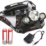 RedSun 5000Lm 3X XM-L T6 Headlamp with Rechargable battery RJ3000+Battery - Chickadee Solutions - 1