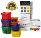 7 Piece Portion Control Containers Kit + GUIDE + FREE PDF PLANNER! by smartYO... - Chickadee Solutions - 1