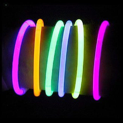 "8"" LumiStick Brand Glowsticks Glow Stick Bracelets Mixed Colors (Tube of 100) - Chickadee Solutions - 1"