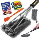 ABAM Grill Brush 3 Core Stainless Steel - NEW Barbecue Clean grill grates 360... - Chickadee Solutions - 1
