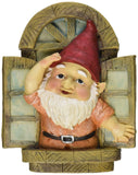 Design Toscano The Knothole Gnomes Garden Welcome Tree Sculpture: Window Gnome - Chickadee Solutions
