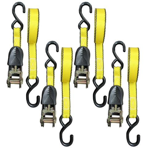 Everest Tough-Tech Series Heavy Duty Premium Ratchet Tie Down Strap - 4 pack ... - Chickadee Solutions - 1