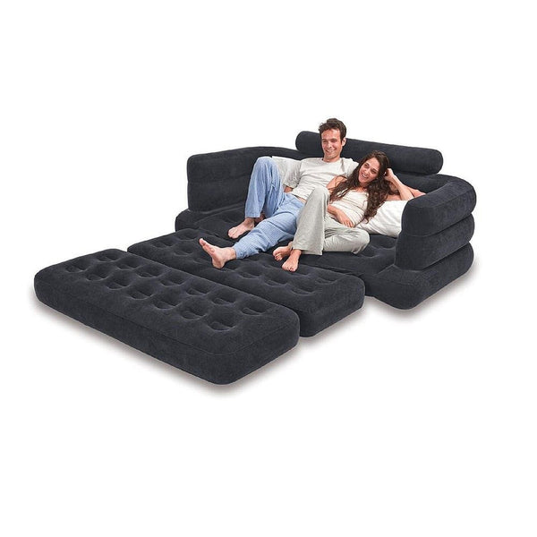 Inflatable Sofa This Intex Lounge Blow Up Pull Out Queen Size Air Mattress C Chickadee