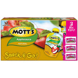 Mott's Snack & Go Natural Applesauce 3.2 oz pouches (Pack of 12) - Chickadee Solutions - 1