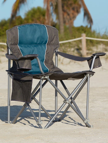 500 Lb Capacity Heavy Duty Portable Chair Blue
