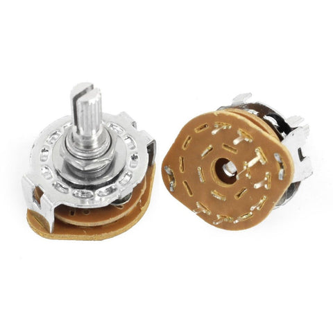 2 Pcs 1P8T 1 Pole 8 Position 6mm Shaft Band Selector Rotary Switch - Chickadee Solutions