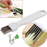 ensunpal store Tool Slice Cutlery Kitchen Onion Vegetable Cutter Sharp Scalli... - Chickadee Solutions - 1