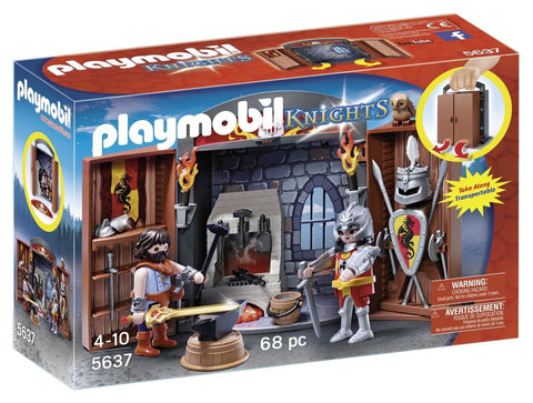 Playmobil Knights' Armory Play Box Standard Packaging - Chickadee Solutions - 1