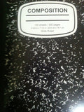 Black and White Marble Wide Rule Composition Book - Chickadee Solutions