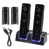 Insten Dual Charging Station w/ 2 Rechargeable Batteries & LED Light for Wii ... - Chickadee Solutions - 1