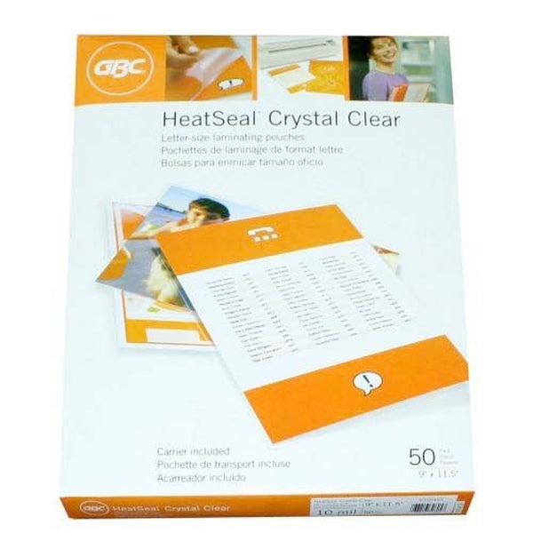 Gbc laminating pouches sheets thermal letter size 10 mil for 10 mil laminating pouches letter size