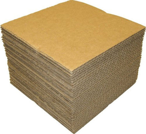 "(50) - 7"" Kraft Brown Vinyl Record Pads - 7 7/16"" x 7 7/16"" - Chickadee Solutions - 1"