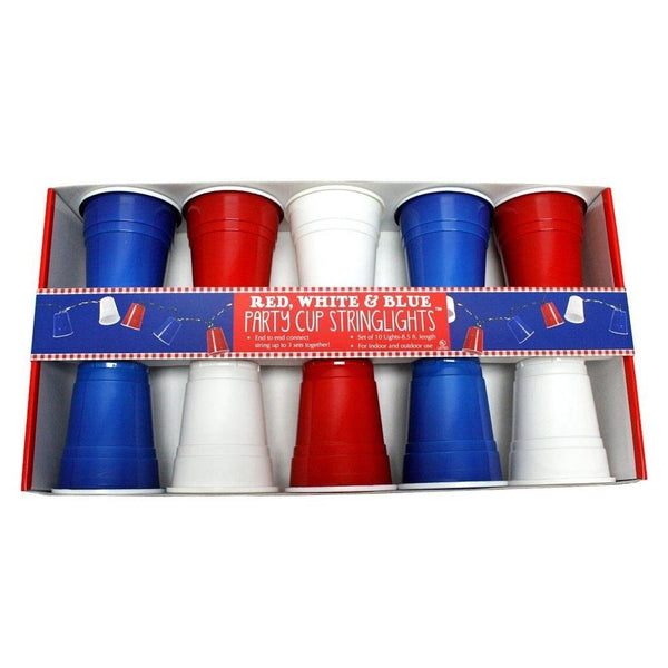 Party Cup String Lights : DEI Party Cup String Lights Red/White/Blue Chickadee Solutions