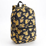 "Pokemon Pikachu Large 17"" All Over Print Front Pocket Backpack - Black - Chickadee Solutions"