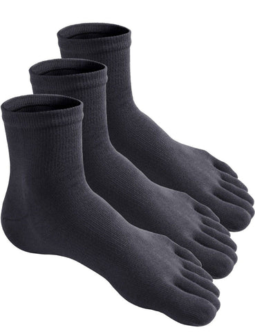 Haslra Toe Socks Various types 2-3 Pairs MSOT016_CHARCOAL Large Haslra - Chickadee Solutions - 1