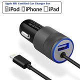 iPhone Car Charger [Apple MFI Certified] Eleckey 4.8A Apple Car Charger + 3.3... - Chickadee Solutions - 1