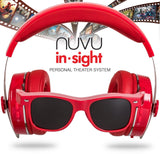 NUVU IN-SIGHT HEADPHONES WITH HD VIDEO GLASSES - VIEW UNLIMITED CONTENT FOR A... - Chickadee Solutions - 1