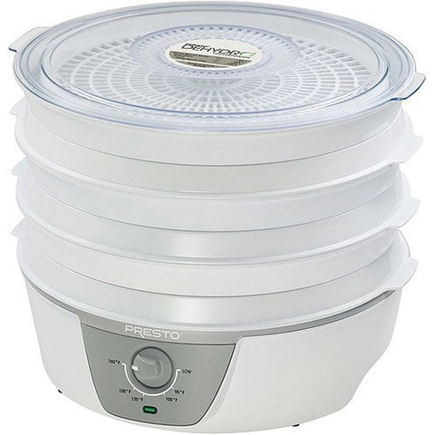 Presto 06302 Dehydro Electric Food Dehydrator with Adjustable Thermostat White - Chickadee Solutions - 1