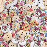 Crystallove Bulk 2 Holes 15mm Flower Buttons Mixed for Sewing Scrapbooking an... - Chickadee Solutions - 1