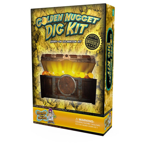 Dig for Gold Science Kit - Dig Up Real Pyrite Nuggets (Fool's Gold) - Chickadee Solutions - 1